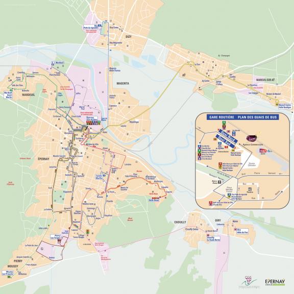 Plan du réseau BUS