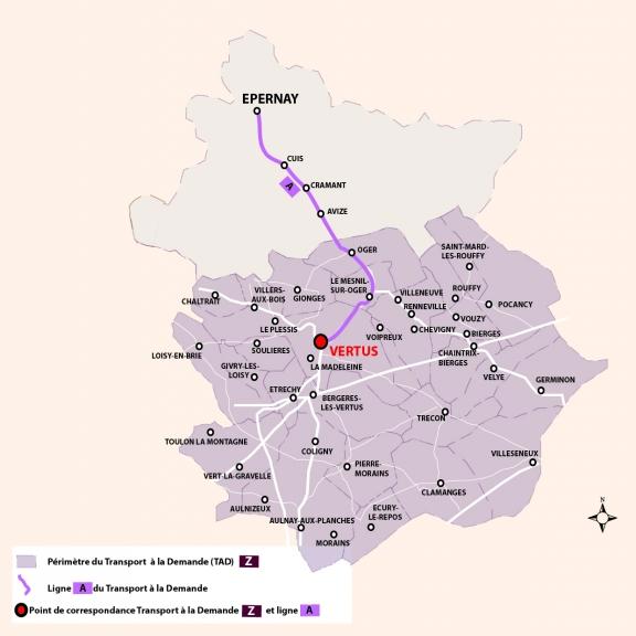 Transport à la demande Territoire de Vertus : ligne Z